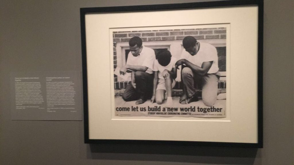a picture of a photograph which was renown during the Civil Rights movement when African-Americans fought for, along with other rights, the right to vote.